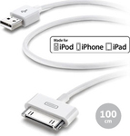 Cellular Line USB to 30-Pin Cable Λευκό 1m (USBDOCKCIPHONE)