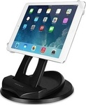 Macally 2-in-1 Desk Stand and Hand Strap Holder for iPad/Tablet (SPINGRIP)