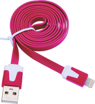 OEM Flat USB to Lightning Cable Pink 1m (KGMAIPH0221P)