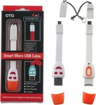 Volte-Tel Flat USB 2.0 to micro USB Cable White (8128639)