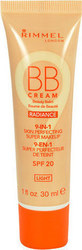 Rimmel London BB Cream 9 in 1 SPF20 Cosmetic Medium 30ml