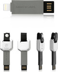 Baseus Keychain USB to Lightning Cable Γκρί (4054753194253)
