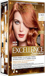 L'Oreal Excellence Intense 7.43 Σκούρο Χάλκινο Χρυσό Ξανθό