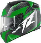Shark Speed-R Series 2 Carbon Run Green/White