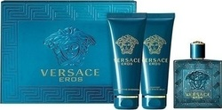 Versace Eros Eau de Toilette 50ml & Shower Gel 50ml & After Shave Balm 50ml