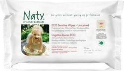 Naty by Natura Babycare Eco Sensitive Wipes Unscented 56τμχ