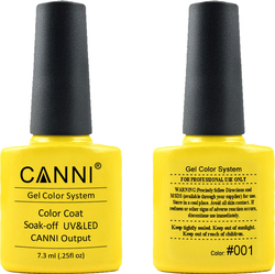 Canni Nail Art Color Coat 001 Yellow Lemon