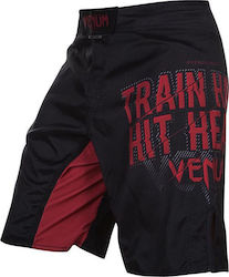ΣΟΡΤΣΑΚΙ VENUM TRAIN HARD HIT HEAVY FIGHTSHORTS - BLACK