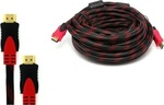 FT Electronics HDMI 1.4 Braided Cable HDMI male - HDMI male 20m (1.00.009)