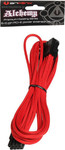Bitfenix Alchemy 6+2Pin PCIe Extension Cable 45cm - red/black