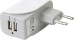 Omega 2x USB Wall Adapter Λευκό (OUCBW2AW)