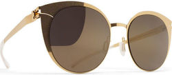 Mykita Decades Sun Boldewyn Gold Hatch