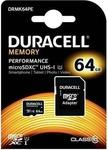 Duracell Memory microSDXC 64GB U1 with Adapter