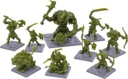 Mantic Dungeon Saga: Green Rage Miniatures Set