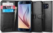 Spigen Wallet S Black (Galaxy S6)