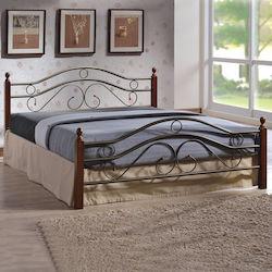 a1630219591 Celina HM311 Κρεβάτι Διπλό Μέταλλο & Ξύλο 150x200cm