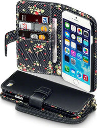 Terrapin Floral Wallet Black (iPhone 6/6s)