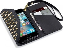 Terrapin Pyramid Studded Wallet για Apple iPhone SE Black