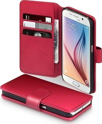 Terrapin Genuine Leather Wallet Red (Galaxy S6)