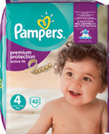 Pampers Premium Protection Active Fit No 4 (8-16Kg) 43τμχ