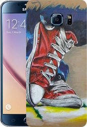 Art Telecom Silicone Case Red Shoes for SM-G928F (Galaxy S6 Edge Plus)