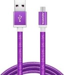 Adata Braided USB 2.0 to micro USB Cable Μωβ 1m (AMUCAL-100CMK-CPU)