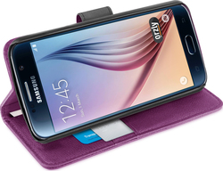 Orzly Multifunctional Wallet Case for Purple (Galaxy S6)