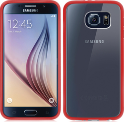 Orzly Fusion Bumper Case for Red (Galaxy S6)