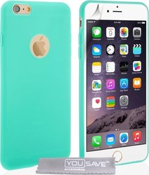 YouSave Accessories Ultra Thin Gel Case Mint (iPhone 6/6s Plus)