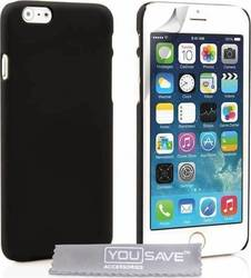 YouSave Accessories Hard Hybrid Case Black (iPhone 6/6s)