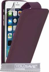 YouSave Accessories Leather-Effect Flip Case Purple (iPhone 6/6s)