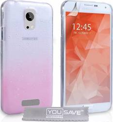 YouSave Accessories Raindrop Hard Case Pink-Clear (Galaxy S6)