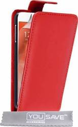 YouSave Accessories Leather-Effect Flip Case Red (Galaxy S6)