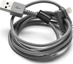 Urbanears Angle (90°) Braided USB to Lightning Cable Γκρί 1.2m (04091089)
