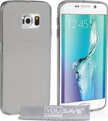 YouSave Accessories Ultra Thin Gel Case Smoke Black (Galaxy S6 Edge)