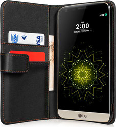 YouSave Accessories Leather-Effect Wallet Case Black (LG G5)