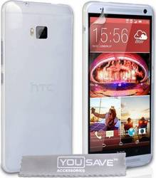 YouSave Accessories Hard Case Crystal Clear (One M9)