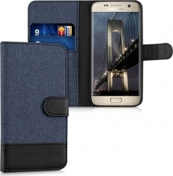 KW Wallet Case Canvas Blue/Black (Galaxy S7)