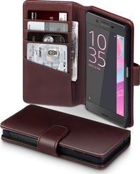Terrapin Genuine Leather Wallet Brown (Xperia X)