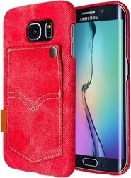 Okkes Denim Jeans Faceplate Red (Galaxy S6)