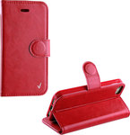 Book Case Leather TPU Red (iPhone 5/5s/SE)