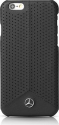 Mercedes Pure Line Faceplate Perforated Μαύρο (iPhone 6/6s)