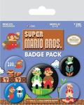 SUPER MARIO BROS. PIN RETRO BADGE PACK (5 PINS) (BP80442)