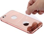 OEM Back Cover Ultra Slim 0.3mm Mirror Αλουμινίου Ροζ Pink (Apple iPhone 6)