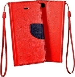 OEM Book Case Fancy Red (Sony Xperia E5)