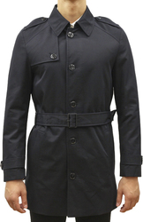 HUGO TRENCH COAT WITH LIGHTWEIGHT LINING MAXOR1 BLACK