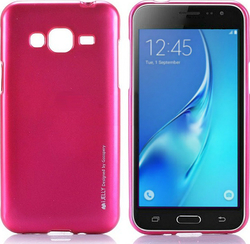 Mercury iJelly Metal Hot Pink Ροζ (Galaxy J3 2016)