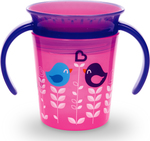 Munchkin Miracle 360° Deco Trainer Cup Pink Bird 177ml