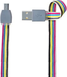 Forever Flat USB 2.0 to micro USB Cable MultiColor 1m (KIN058)