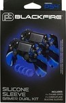 Ardistel 2x Silicone Case Camouflage Black/Blue & Thumb Grips Blue PS4